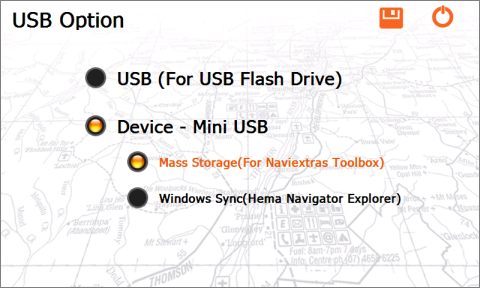 USB Option - Mass Storage mode