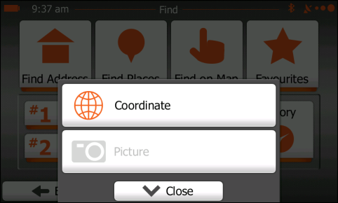 Coordinate button