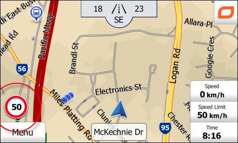iGO Map screen