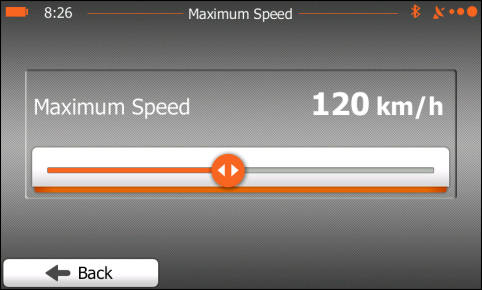 Maximum Speed setting